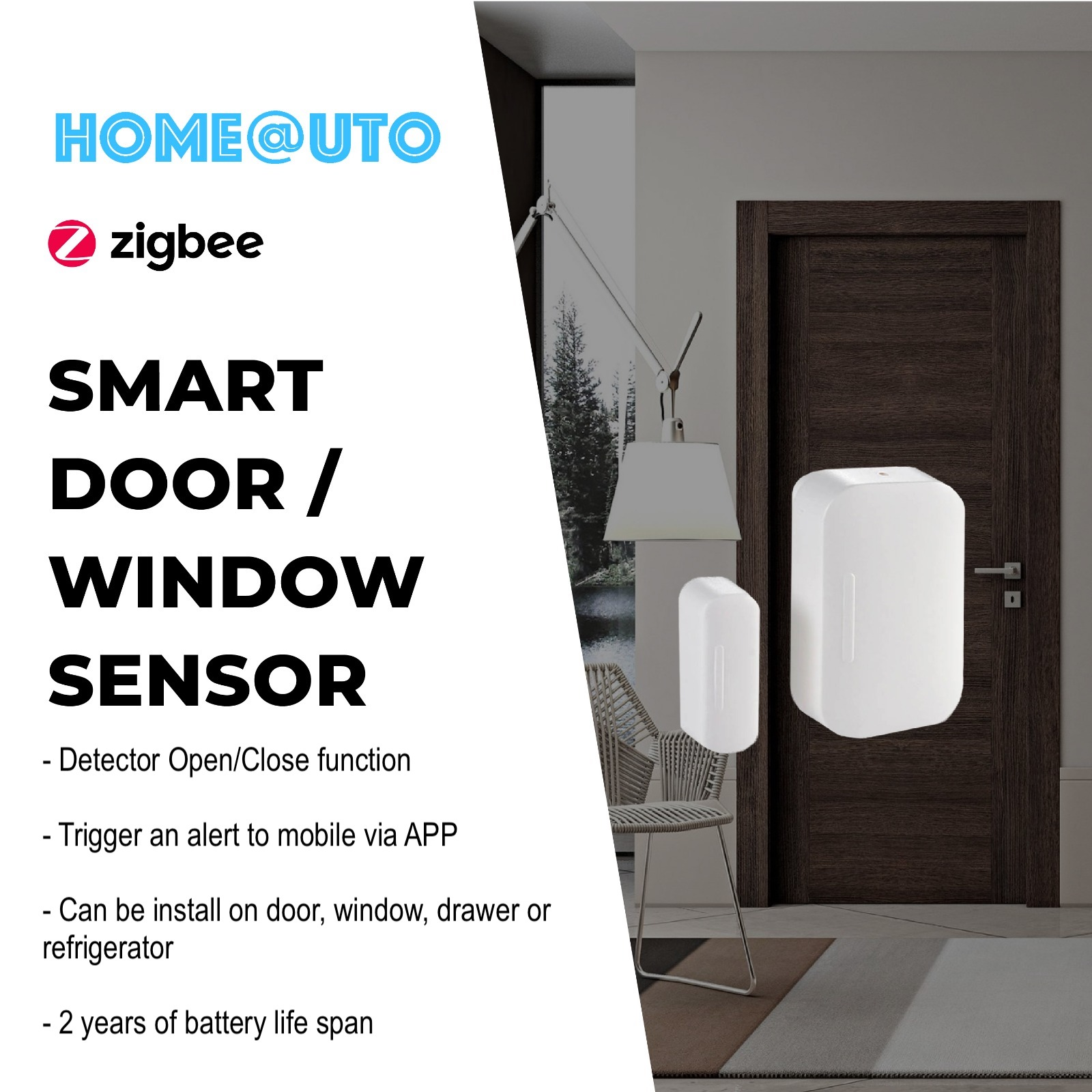 ZIGBEE WINDOW/DOOR SENSOR