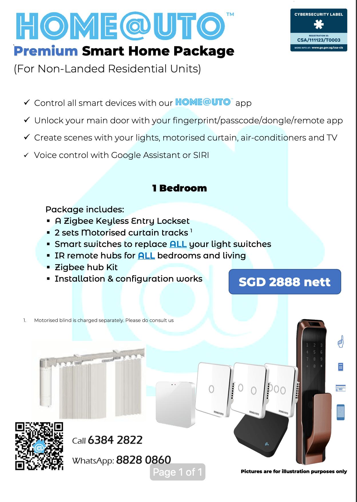 Premium 1 Bedroom Package